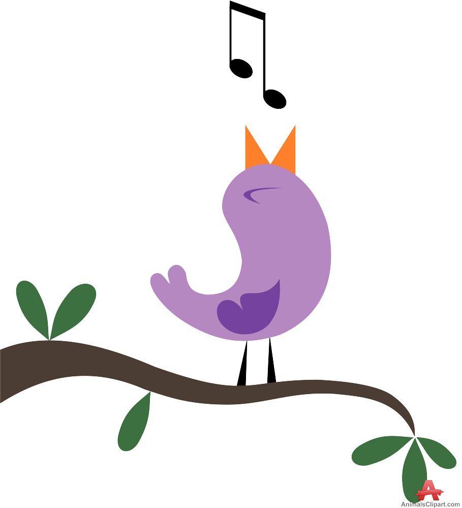 909x999 Bird Tweeting On Tree Free Clipart Design Download