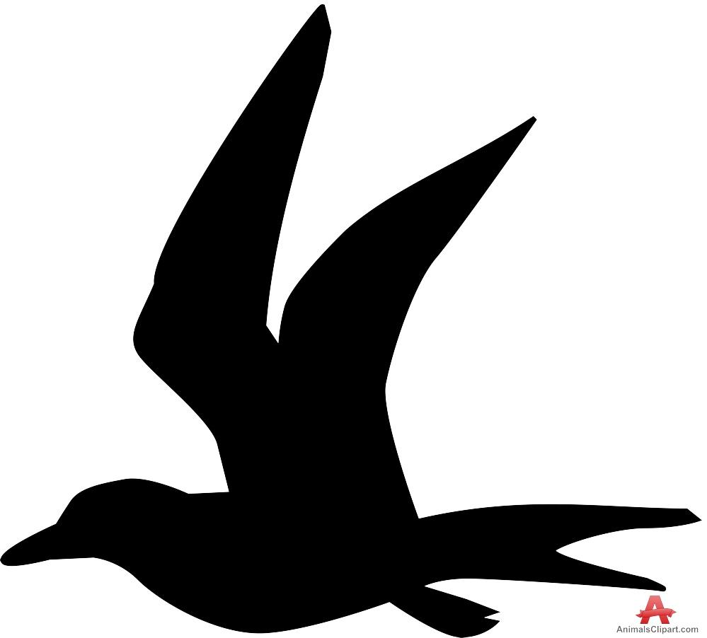 999x902 Bird Silhouette In Flight Free Clipart Design Download