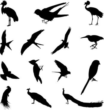 348x368 Bird Silhouette Clip Art Free Vector Download (214,015 Free Vector