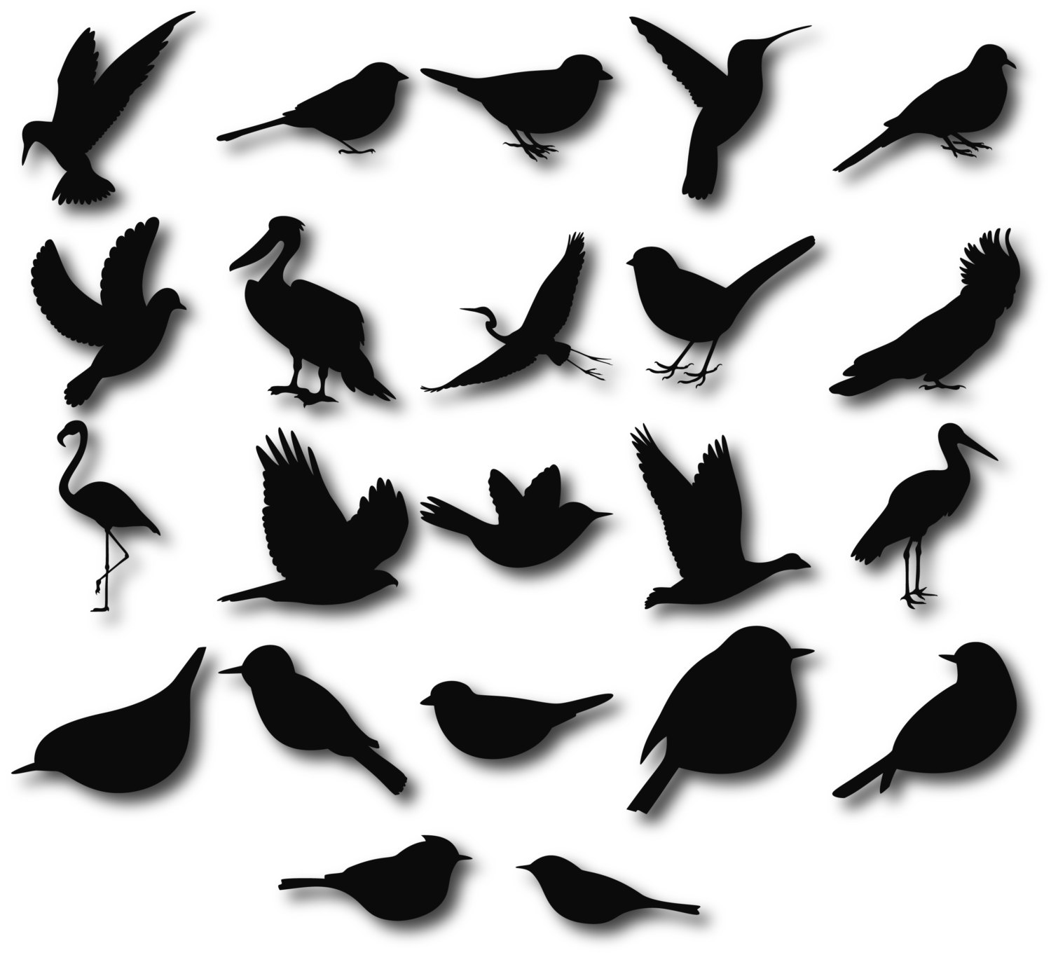 1500x1363 Birds Silhouettes, Birds Clipart, Birds Svg, Bird Silhouette Clip