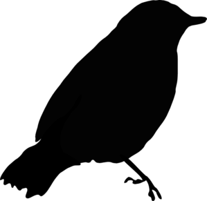 299x291 Black Bird Silhouette Clip Art