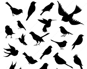 340x270 Birds Silhouettes, Birds Clipart, Birds Svg, Bird Silhouette Clip