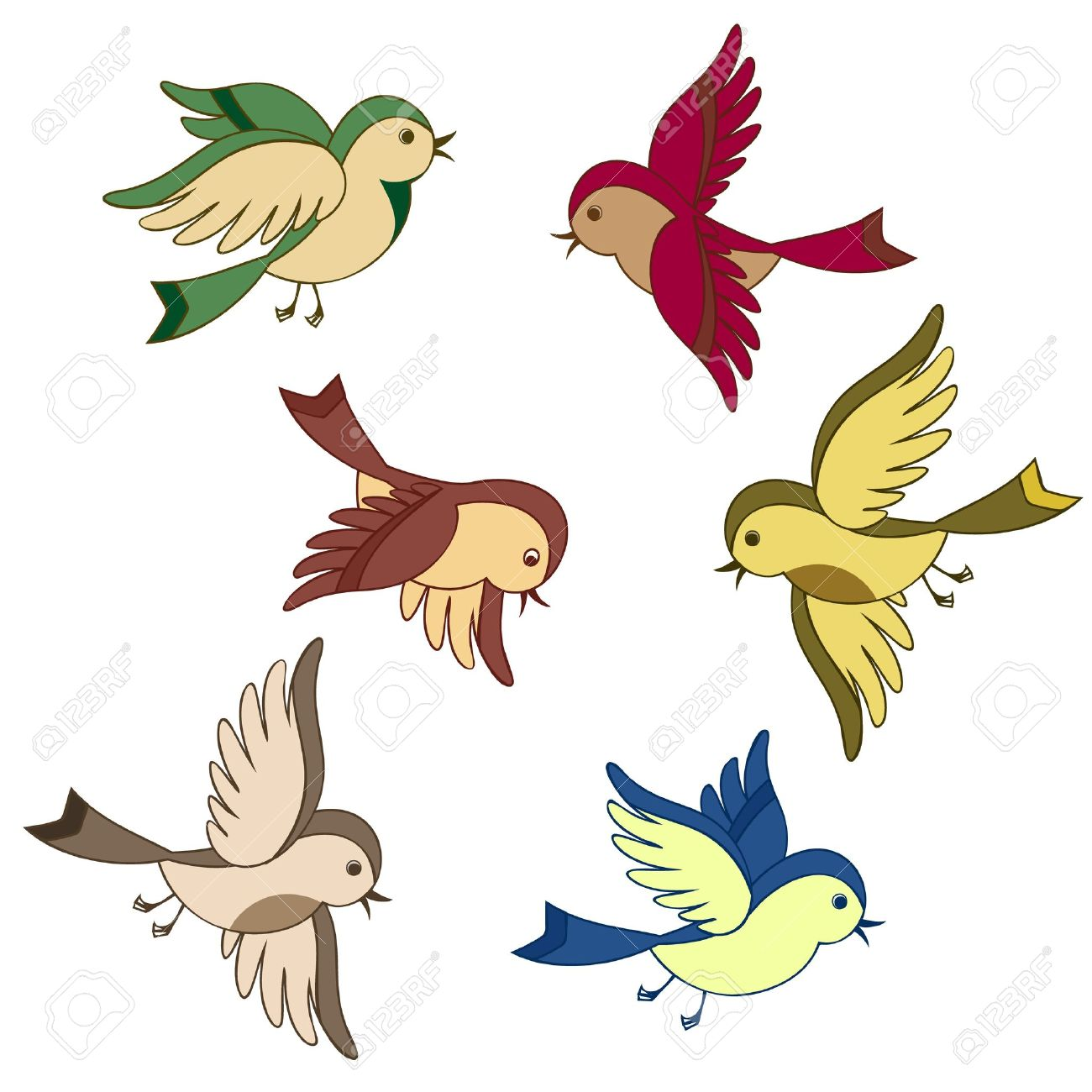 1300x1300 168,785 Cartoon Bird Stock Illustrations, Cliparts And Royalty