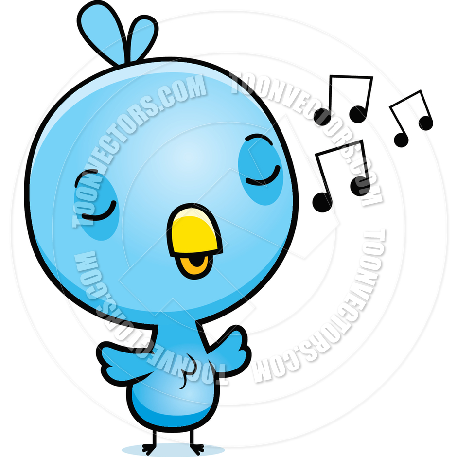 940x940 Cartoon Baby Bird Chick Singing By Cory Thoman Toon Vectors Eps