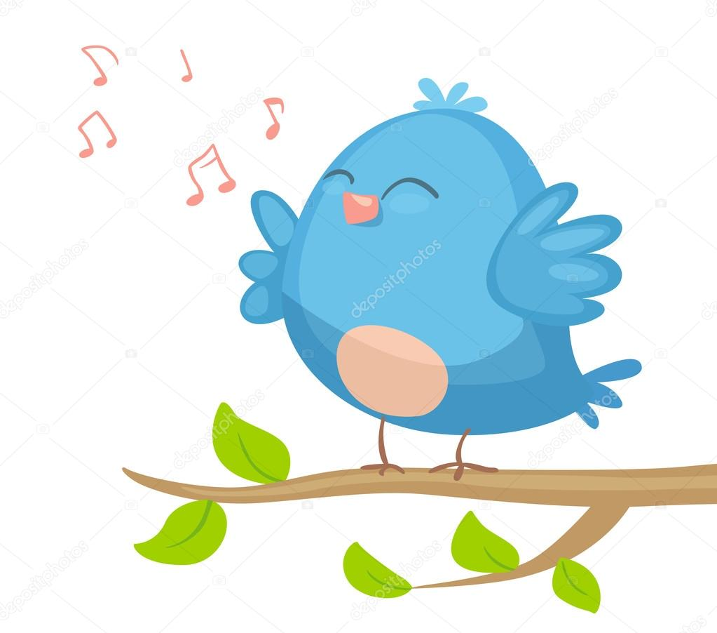 1023x902 Cartoon Bird Singing Stock Vector Real Illusuion