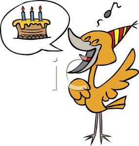 285x300 Image A Bird Singing Happy Birthday