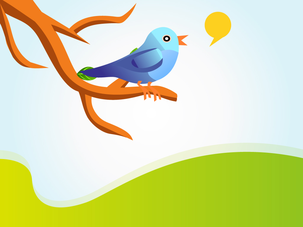 1024x765 Singing Twitter Bird Vector Vector Art Amp Graphics