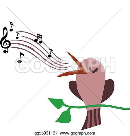 450x470 Singing Birds Clipart