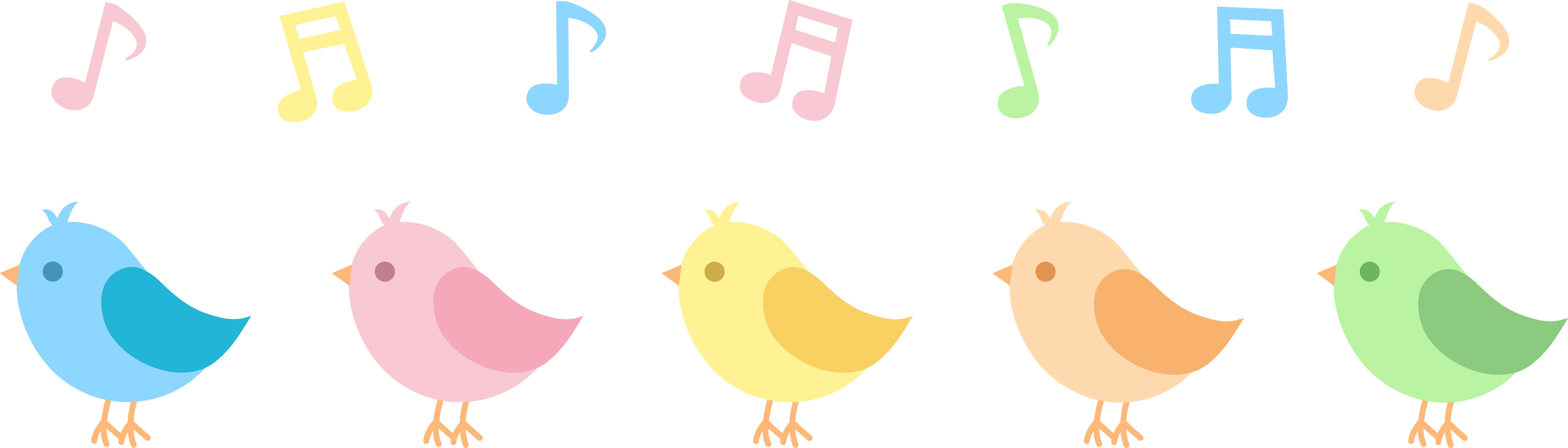 8886x2537 Song Clipart Bird Singing