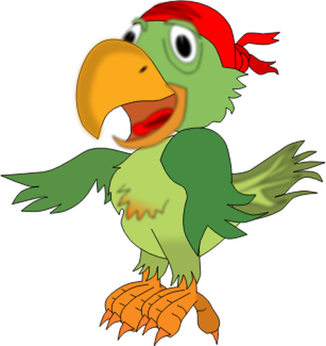 472x500 Vector Illustration Of Singing Pirate Parrot Public Domain Vectors