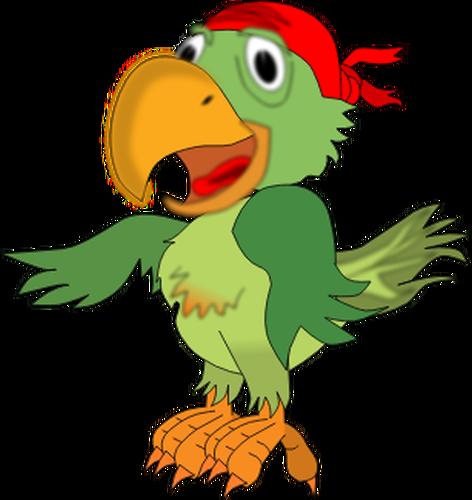 472x500 Vector Illustration Of Singing Pirate Parrot Public Domain Vectors
