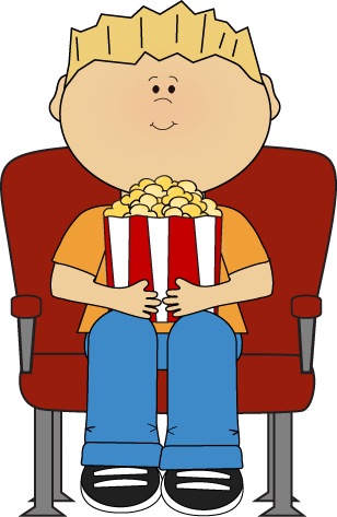 308x473 Watching Movies Clipart