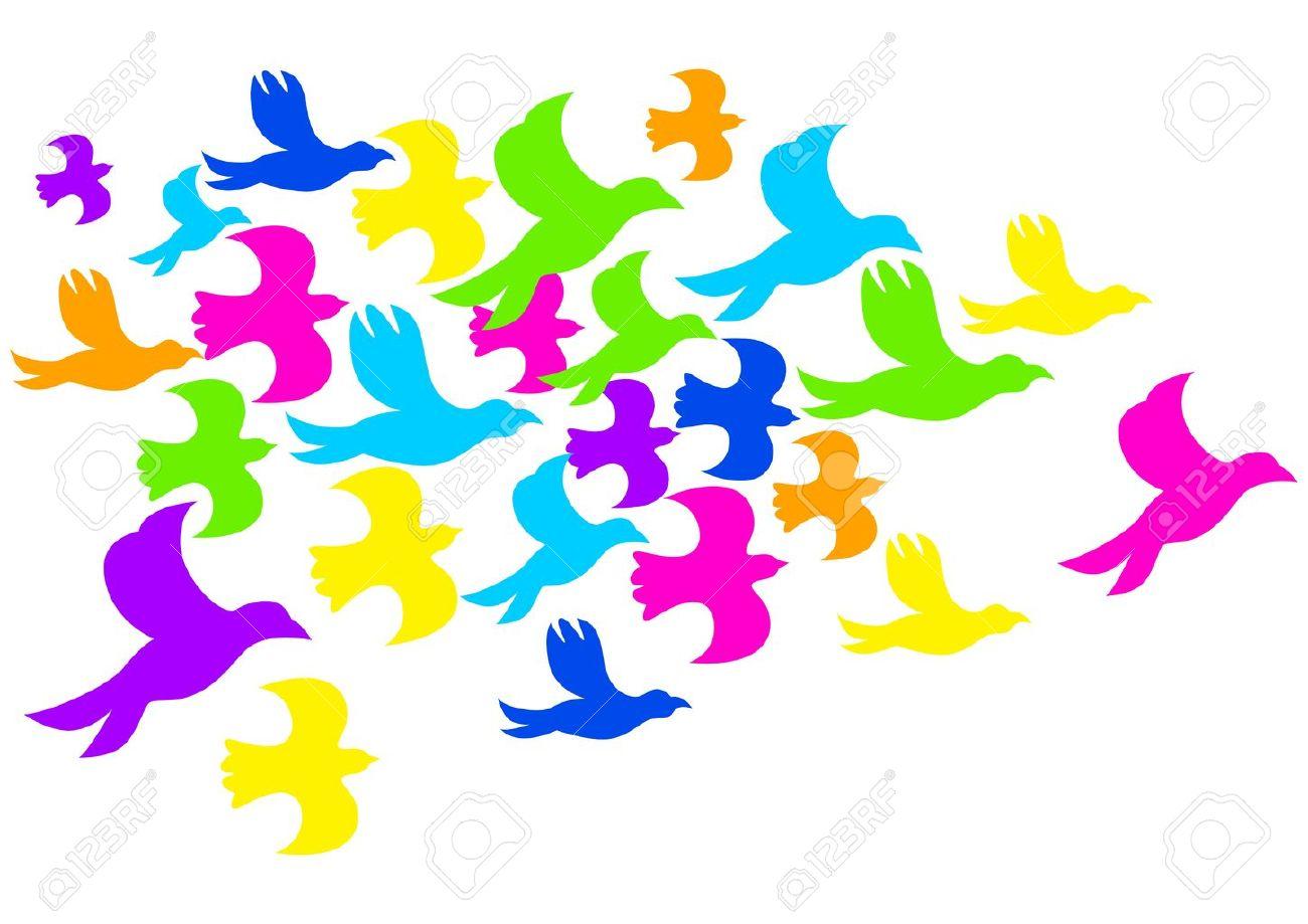 1300x919 Flock Of Birds Clipart Dove