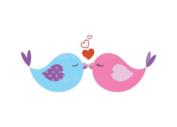 570x407 Red Love Birds Clip Art