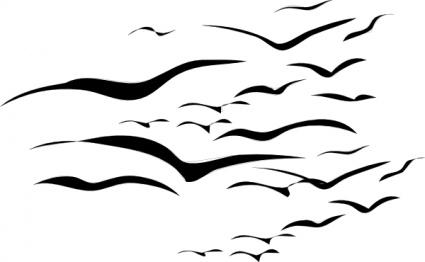425x262 Flock Of Birds Clip Art Vector Clipart Panda