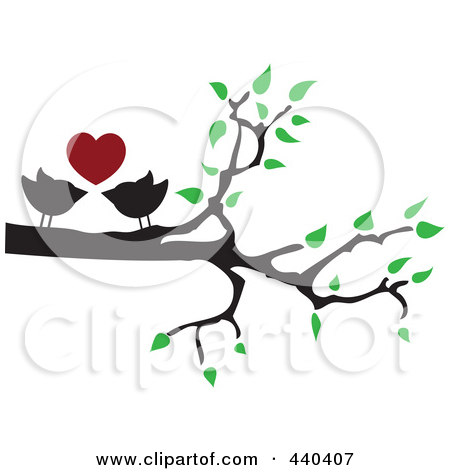 450x470 Love Birds Clipart Black And White Clipart Panda