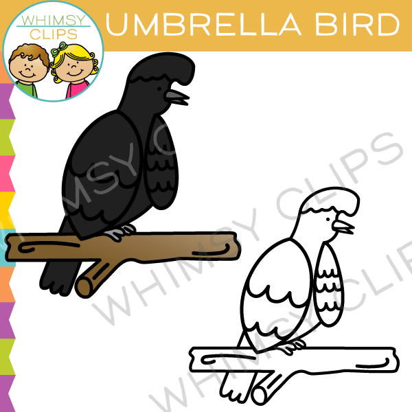 600x600 Umbrella Bird Clip Art , Images Amp Illustrations Whimsy Clips