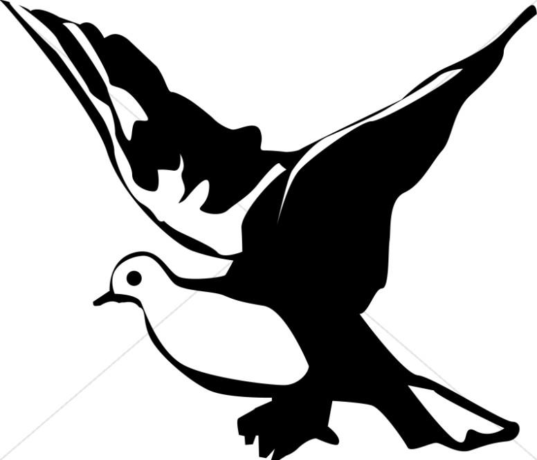 776x665 Winged Black And White Dove Clipart Dove Clipart