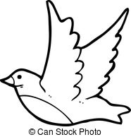 186x194 Black And White Flying Bird Clipart