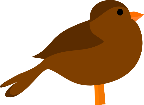 600x439 Brown Bird Clip Art