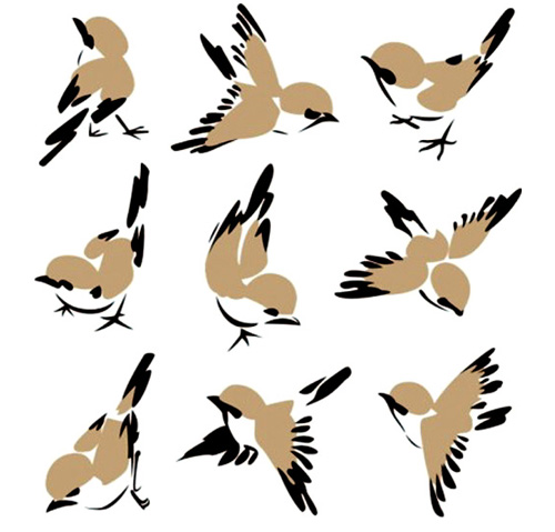 500x479 Cute Sparrow Vector
