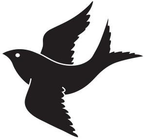 300x286 Flying Bird Line Art