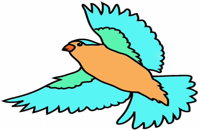 640x420 Bird Flying Clipart