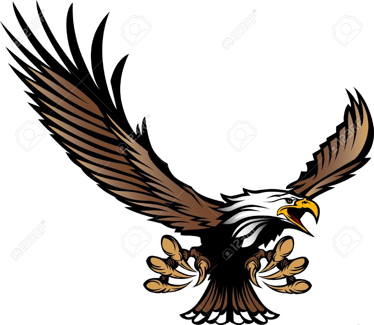 1300x1131 Bird Of Prey Clipart Eagle Talon