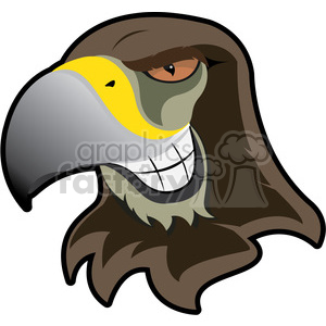 300x300 Royalty Free Hawk Mascot Showing Teeth 384891 Vector Clip Art