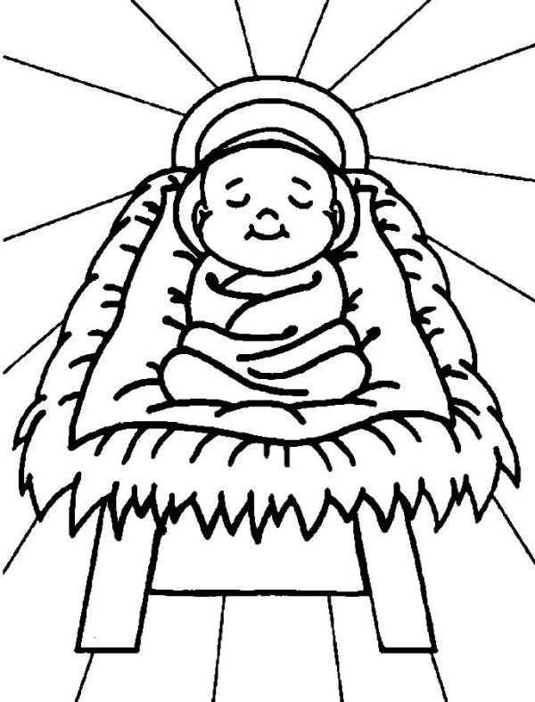 600x787 Baby Jesus Christmas Coloring Pages For Kids