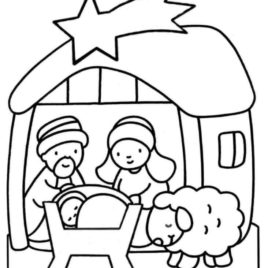 268x268 Coloring Page For Jesus Birth Archives