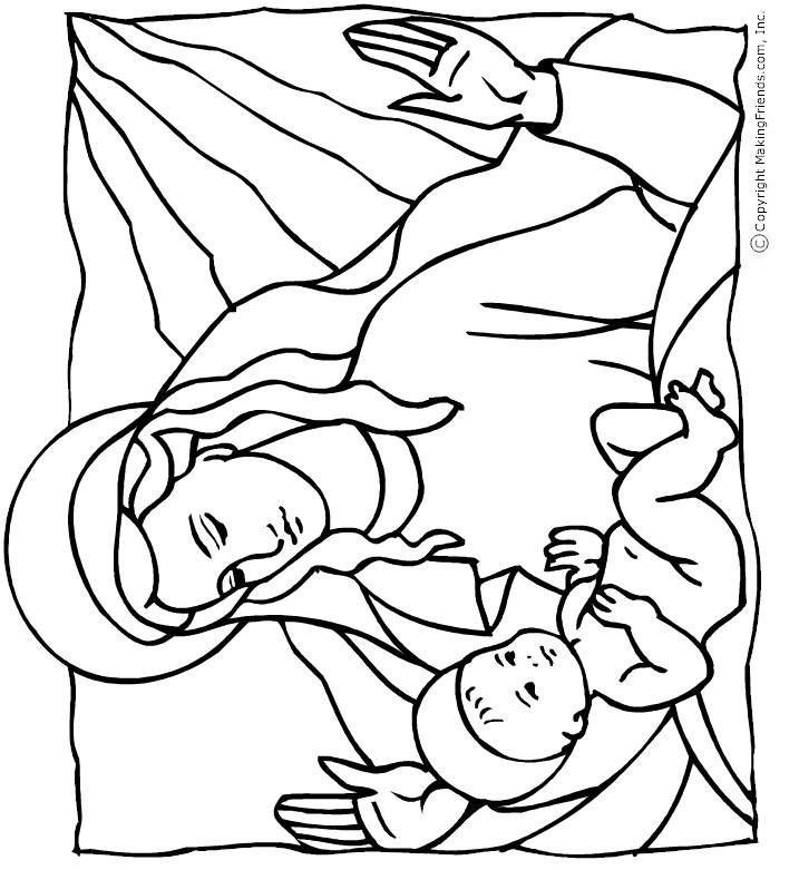 717x781 Coloring Pages Baby Jesus