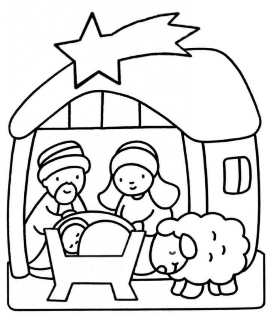 878x1024 Coloring Pages Of Jesus Birth Story Christmas Bible Story Coloring