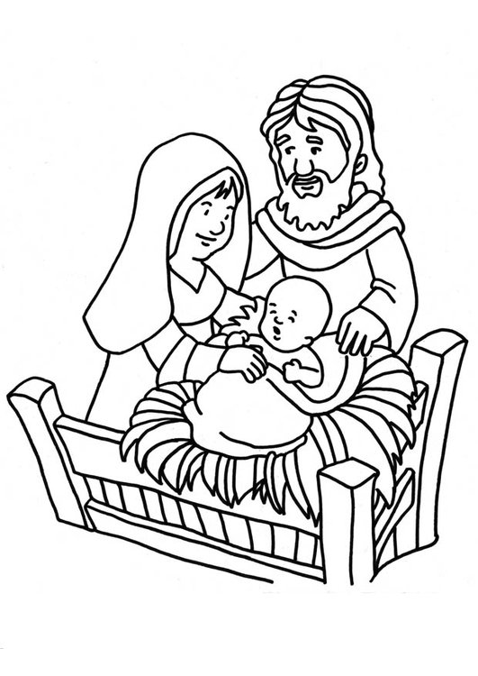 531x750 Coloring Page Birth Of Jesus
