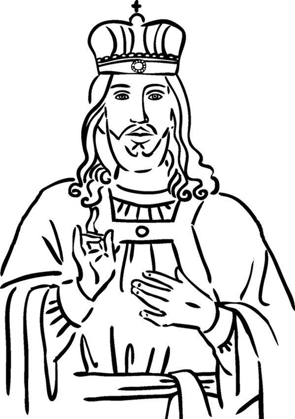 599x850 Crown Coloring Page