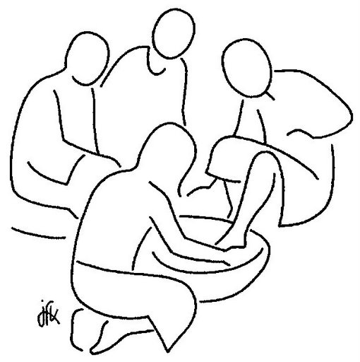 510x512 Jesus Foot Washing Coloring Page Clipart