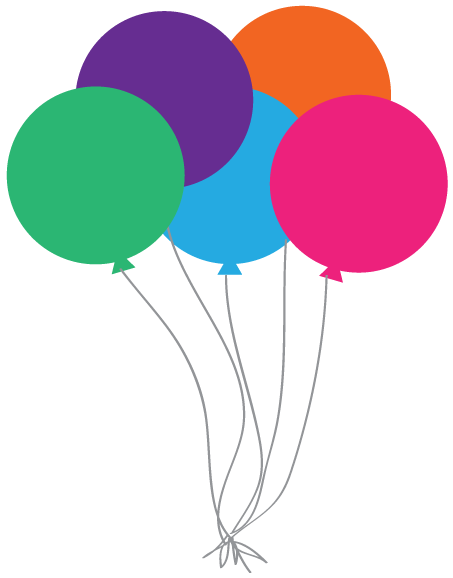 453x578 Happy Birthday Balloons Clip Art