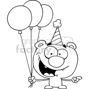 Birthday Balloon Clipart Black And White
