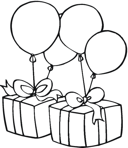 517x600 Black And White Birthday Clipart