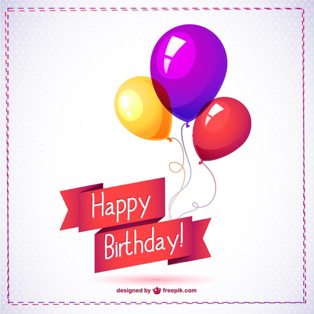 Birthday balloon graphics free download best birthday balloon 626x626 happy birthday card with balloons vector free download m4hsunfo