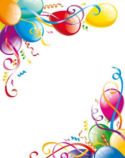 400x503 Free Birthday Balloons Clipart Image
