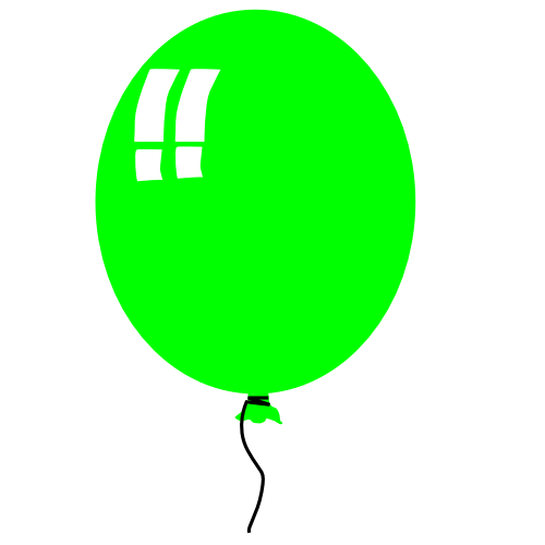 500x500 Free Birthday Balloon Clip Art Free Clipart Images 8