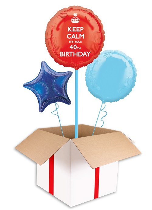 500x690 Keep Calm 40th Birthday Balloon Delivered Inflated In Uk