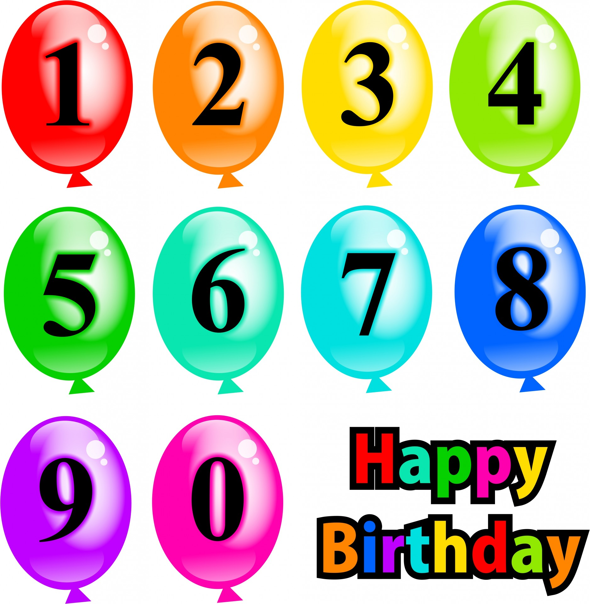 1875x1920 Birthday Balloons Clipart Free Stock Photo