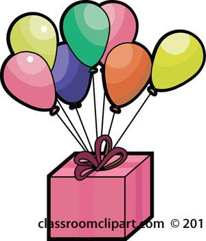 300x350 Birthday Clipart Balloons On Birthday Present