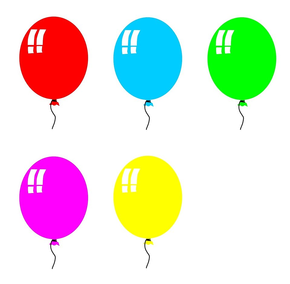 958x937 Balloons Free Stock Photo Colored balloons