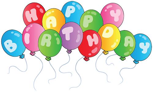 500x300 Birthday Balloons Symbols Amp Emoticons