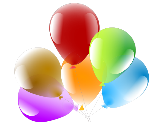 555x416 Free Birthday Balloons Clipart Image