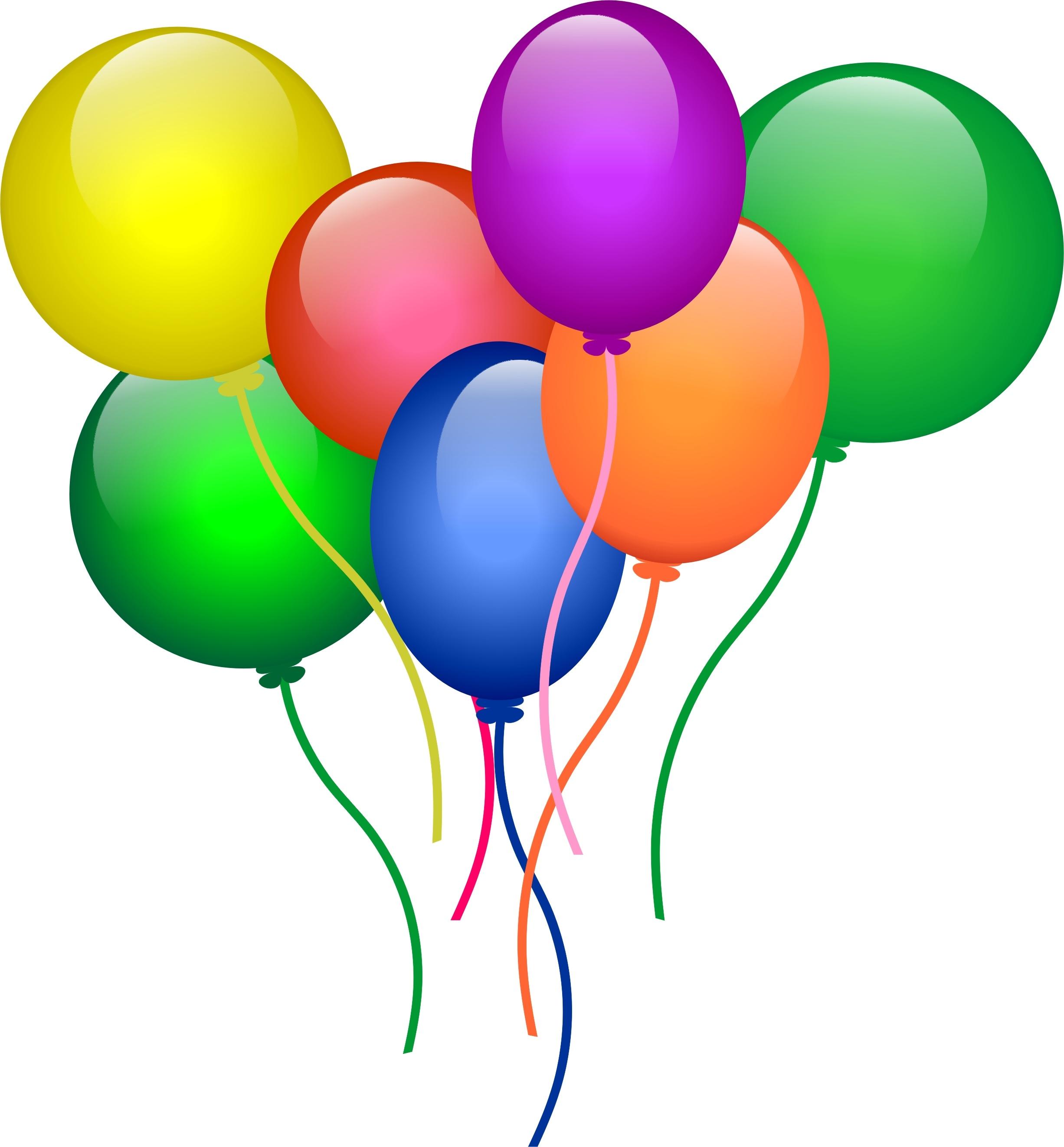 2453x2646 Birthday Balloons Clipart
