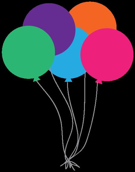 453x578 Happy Birthday Balloons Clip Art